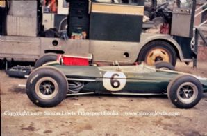 Lotus 33 Mike Spence car Silverstone paddock 1965 British GP